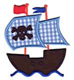 PatchMommy Iron On Applique Patch, Pirate Ship - Kids Baby