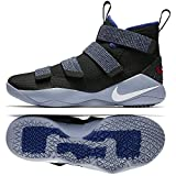 NIKE Lebron Soldier Xi 897644 005 Black/White/Deep Royal Blue Men's Basketball Shoes (10)