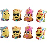 Pillow Pets Mini Smiley Face Emoji Party Pack - 8 Pieces