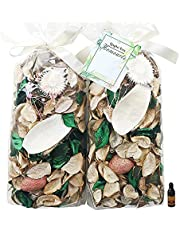 Qingbei Rina Potpourri Bag White Color Dried Flowers Floral and Tea Scented Fragrance Sachet Petal Bowl and Vase Filler Home Wedding Party Decor,2 Bags,Suitable for Filling a 83 Fluid-Oz Bowl