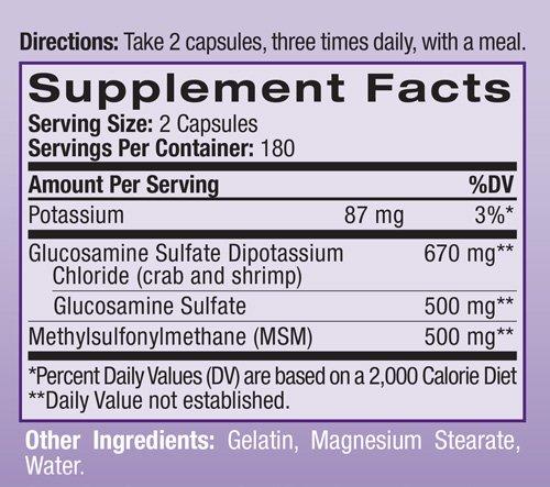 Natrol Msm And Glucosamine 360 cap ( Multi-Pack)