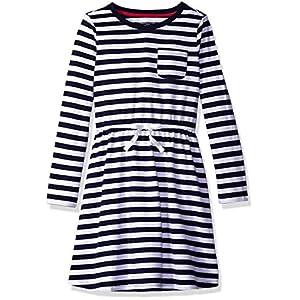 Best Epic Trends 51i-fsPDInL._SS300_ Amazon Essentials Girls' Long-Sleeve Elastic Waist T-Shirt Dress