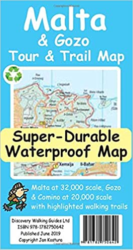 Malta and Gozo Tour and Trail Super-Durable Map: Amazon.co ...