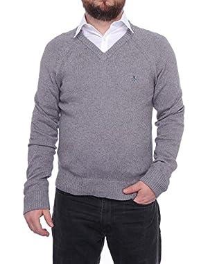 Long Sleeve V-Neck Sweater Men Regular Sweater Top