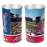"MLB 8104513 Atlanta Braves Tapered Wastebasket, 15""H"