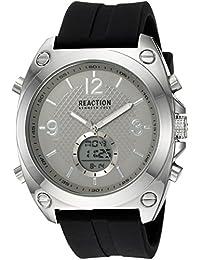 Men's Quartz Metal and Rubber Casual Watch, Color:Black (Model: RKC0169003)