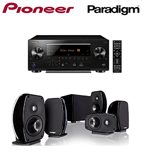 - Pioneer Network AV Receiver Audio & Video Component Receiver,Black (SC-LX701) + Paradigm Cinema 100 CT 5.1 Home Theater System Bundle