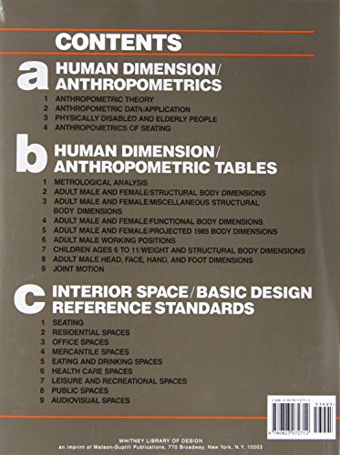 Human Dimension Interior Space A Source Book Of Design Reference Standards Buy Online In
