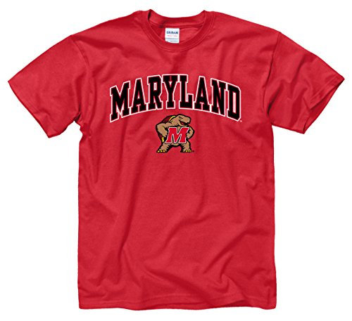 Maryland Terrapins Adult Arch   Logo Gameday T Shirt   Red   Large