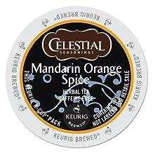 Celestial Seasonings Teas & Herbal Teas 74-14735 Mandarin Orange Tea K-cups, 24-Count-packaging may vary