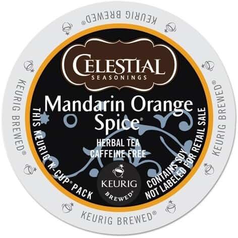 Celestial Seasonings Mandarin Orange Spice Herbal Tea, K-Cup Portion Pack for Keurig K-Cup Brewers, 24-Count