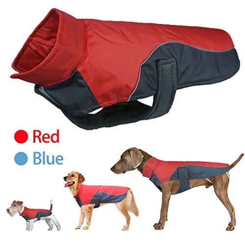 L&Y FuBao Winter dog clothes Pet jacket Ski clothing Outdoor safety Reflective Waterproof small large dogs warm coat training vest - Dog Clothing Winter