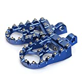 TARAZON CNC Wide Fat Footpegs Foot Pegs MX Rotating Custom Chopper Bobber Style for Harley Davidson (Blue)