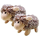 Dog Toys Plush, Legendog 2 Pcs Dog Chew Toys Squeaky Stuffed Dog Toy Sheep
