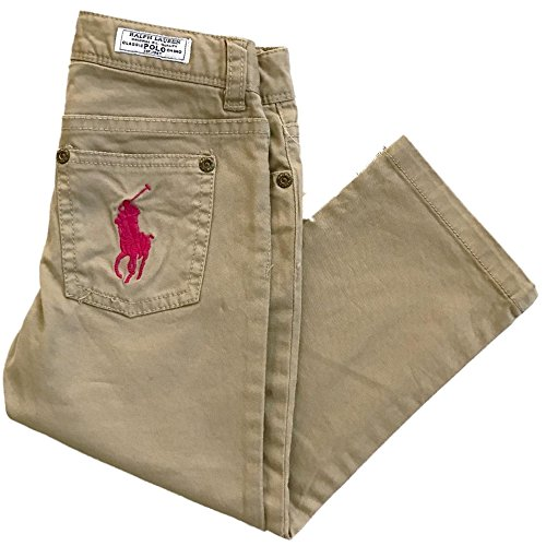 Ralph Lauren Girls Pony Neon Classic Stretch Chino Pants (8)