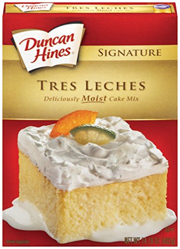 Duncan Hines Signature Cake Mix, Tres Leches, 14.18 Ounce (Pack of 12) ()