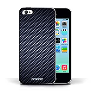 KOBALT? Protective Hard Back Phone Case / Cover for Apple iPhone 5C | Blue Design | Carbon Fibre Effect/Pattern Collection