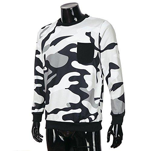 de Camisa 2018 de blusa verano larga músculo 2 capucha hombre de zarupeng de de con calidad bolsillo camuflaje manga Gris sudaderas hombre Tops para alta de 6Tdwxv