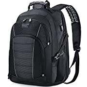 Laptop Backpack, Extra Large 17 Inch Business Travel Backpack with USB Charging Port Earphone Hole, Durable Water…