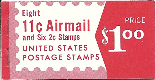 Cent Booklet (US Air Mail Postage Stamp Booklet Eight 11 Cent Air Mail And Six 2 Cent Stamps Scott # BK C22)