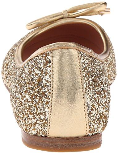 York Glitter Kate Spade Ballet Women's Willa Flat Gold New w1WqSz6B
