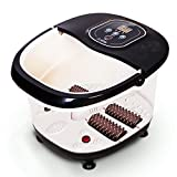IREALIST Foot Spa Massager with Heat Temperature Customizable Foot Bath Massager, Foot Bath Tub with Bubbles, Massage Rollers, Vibration