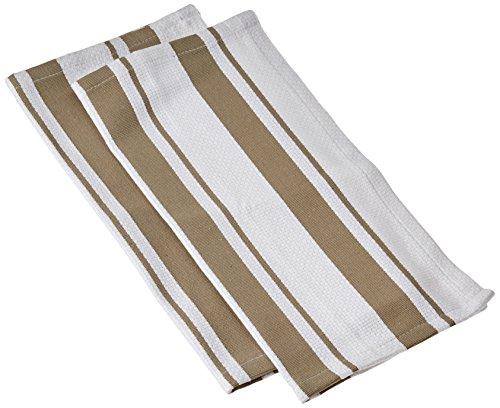 MUkitchen Cotton Stripe Dishcloth, 13 by 13-Inches, Set of 2, ()