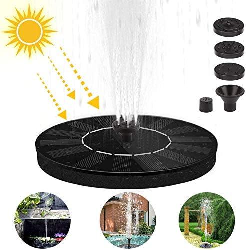 Etmury Bomba de Fuente Solar,Bomba de Agua Solar, Panel Solar Flotante (con 3 boquillas), Utilizado para Fuente, Piscina, jardín, Estanque, decoración de jardín: Amazon.es: Jardín