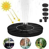 Etmury Bomba de Fuente Solar,Bomba de Agua Solar, Panel Solar Flotante (con 3 boquillas), Utilizado para Fuente, Piscina, jardín, Estanque, decoración de jardín