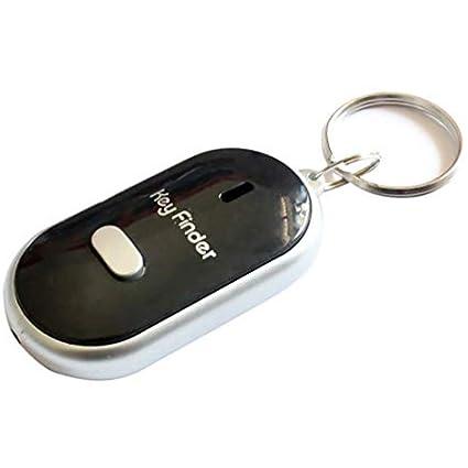 PoeHXtyy - Llavero localizador de llavero con luz LED para encontrar las llaves perdidas, negro