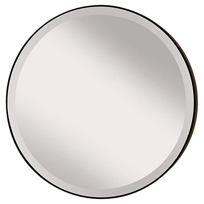 Feiss MR1127ORB Rounded 28.5 inch Diameter Mirror, Oil Rubbed Bronze