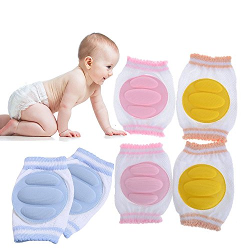 Knee Pad Crawling Safety Protector Breathable Adjustable Elastic Unisex Infant Toddler Baby Kneepads Knee Elbow Pads Crawling Safety Protector, 3 Pairs by goodbuymall
