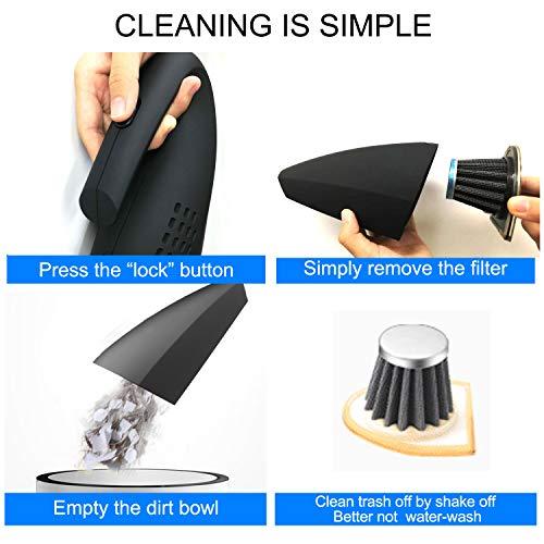 SHOPUS | Handheld Vacuum Cordless, Hand Vacuum Cleaner