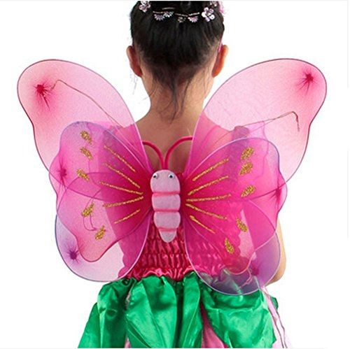 [Baby Girl Fairy Angel Costume Butterfly Wing Halloween Costume] (Butterfly Tween Costumes)
