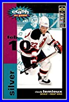 1995-96 Collector's Choice Crash the Game Silver #C28C Claude Lemieux 2/10/96 NEW JERSEY DEVILS