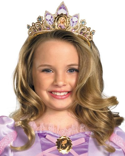 Disguise Disney Tangled Rapunzel Tiara Costume Accessory, One Size Child (Tangled Rapunzel Dress)