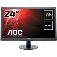 AOC e2460Sh 24 16:9 Black W-LED 1920x1080, TN 170/160 (CR10), 1000:1, 1ms GtG, Speakers, VESA 100x100, Tilt, VGA 1x, DV