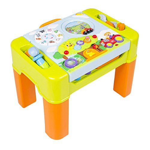 Kids Learning Activity Table With Quiz, Music, Lights, Shapes, Tools and More