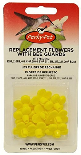 Perky-Pet 202FB 9 Piece Yellow Hummingbird Feeder Replacement Flowers (Pack of - Pet Hummingbird Perky