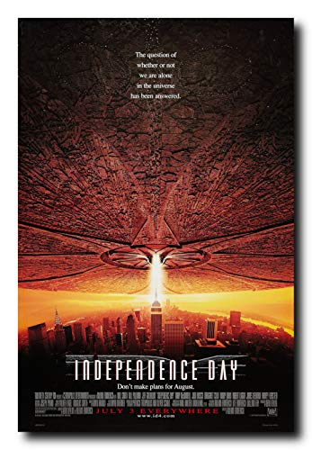 Poster Day - Independence Day Movie Poster 24x36 Inch Wall Art Portrait Print - Will Smith - Jeff Goldblum