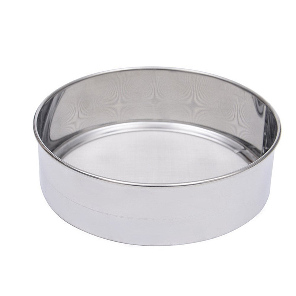 daffodilblob Durable Stainless Steel Mesh Flour Sifting Sifter Sieve Strainer Baking Kitchen Tool 5.91'' x 1.97'' Silver by daffodilblob (Image #4)