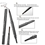 Eyebrow Grooming Suit Kits - 13 PCS Stainless Steel Eyebrow Scissors Utility Tools, Professional Eye Brow Groom Set with Mirror, Eyebrow Tweezers, Shaping Razor, Pen, Brush, DIY Shape Card