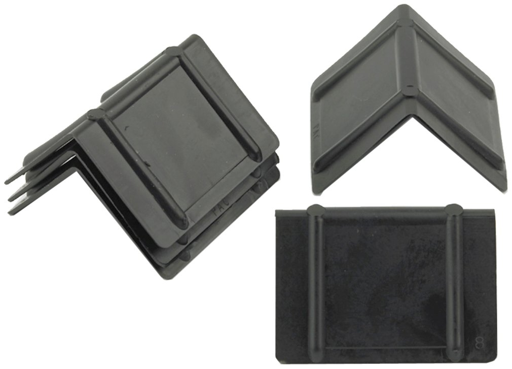 PAC Strapping CP122 Plastic Edge Protector, 1-3/4'' Length, 2-1/2'' Width, Black (Pack of 1000)