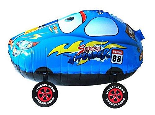 Birthday Kids Party Toy Walking Blue Car Helium Balloon, Set of 3]()