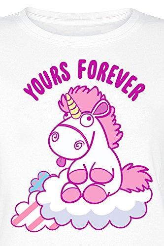 Minions Einhorn Fluffy Yours Forever Girlshirt Weiß Weiß Nb0slso