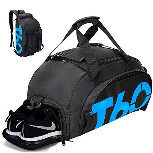 Gym Bag Travel Duffle Bag Backpack with Shoes Compartment for Men and Women 35L&45L, Wet Dry Seperation Sports Gym Backpack]()