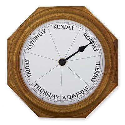 Classic Oak Dayclock Day Clock Retirement Gift -  - wall-clocks, living-room-decor, living-room - 51i mKO1dlL. SS400  -