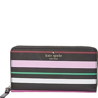 kate spade new york Harding Street Fiesta Stripe Michele Wallet (Black Multi)