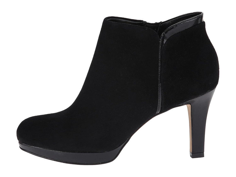 Cicime Women's Melaha Suede High Heel Size-zip Platform Ankle Booties