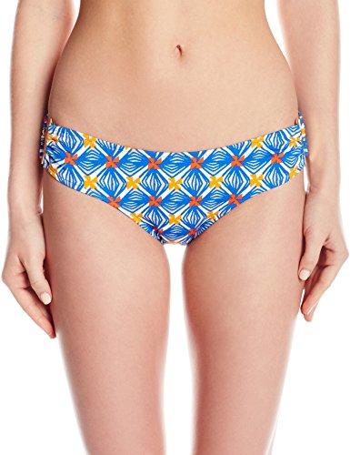 MILLY Women's Mosaic Print Elba Bikini Bottom, Multi, Petite by MILLY